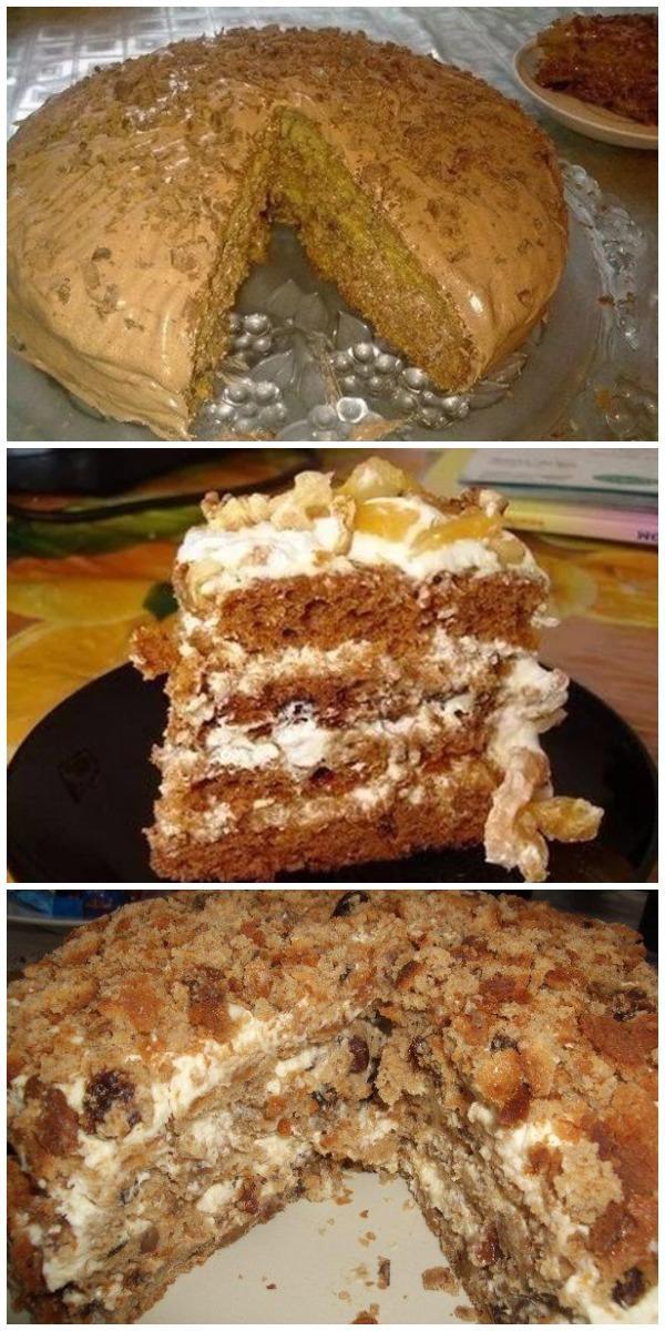Торт «Трухлявый пень». Шикарный домашний торт из самых простых продуктов!