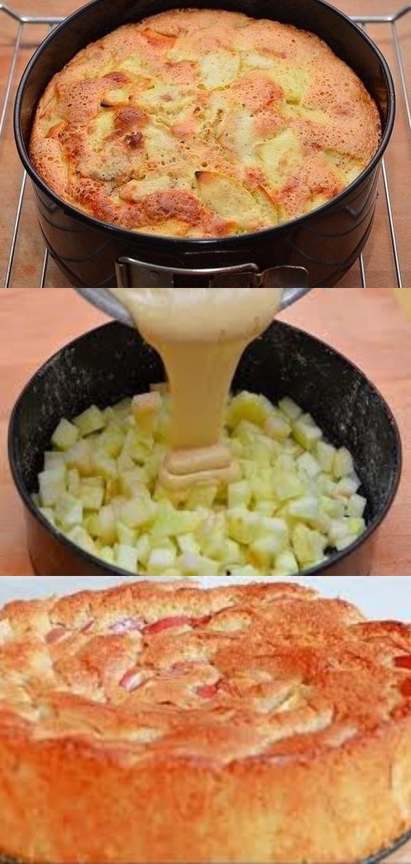 Мой рецепт шарлотки с яблоками. Мегапышная и супермягкая