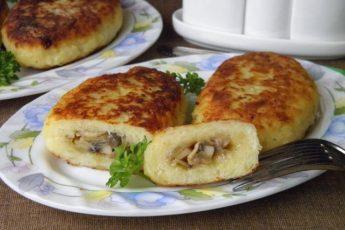 Зразы картофельные с грибами — бюджетное, сытное, ароматное и вкусное блюдо для всей семьи