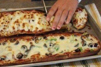 Проще блюда, чем пицца в хлебе и придумать нельзя!